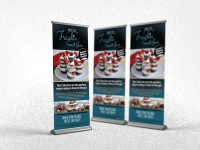Retractable Banner Design, Printing, Shipping & Carrying Case!