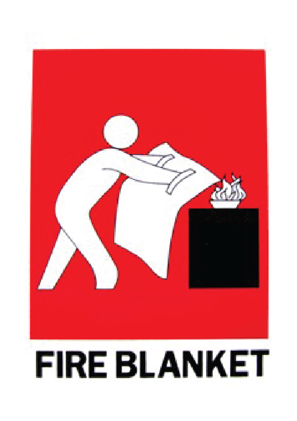 Fire Blanket Sign (Small) 150mm x 225mm
