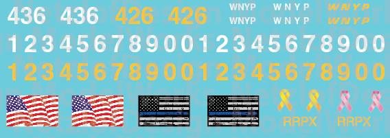 HO Scale - Western New York & Penna Locomotive Patch Out Set (WNYP)