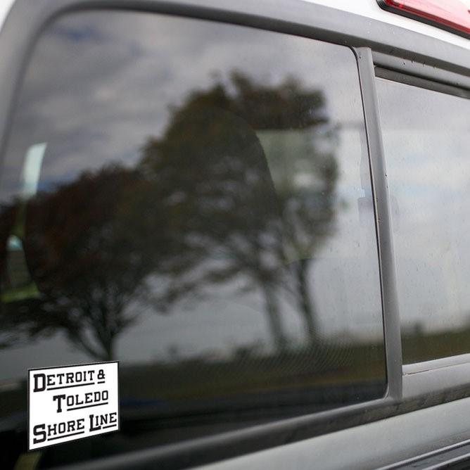 Vinyl Sticker - Detroit Toledo Shore Line (DTSL White/Black) Logo