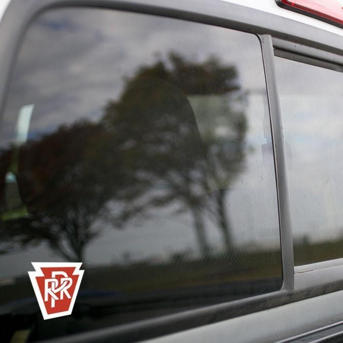 Vinyl Sticker - Pennsylvania Railroad (PRR) Logo (Maroon/White)