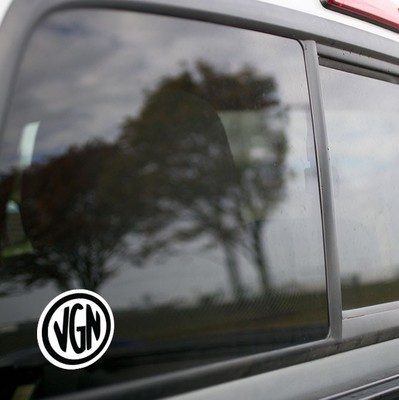 Vinyl Sticker - Virginian Railroad (VGN) Logo (White/Black)