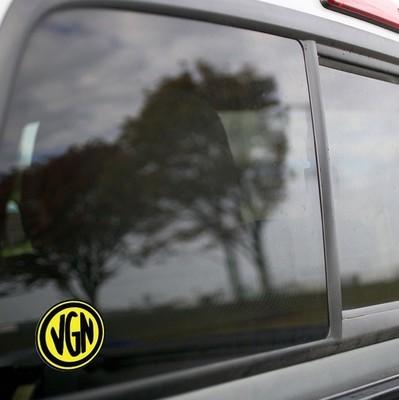 Vinyl Sticker - Virginian Railroad (VGN) Logo (Yellow/Black)