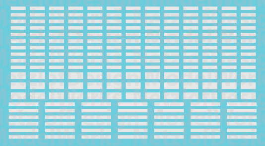 HO Scale - FRA Blocks, Non-Reflective Waterslide Decals White