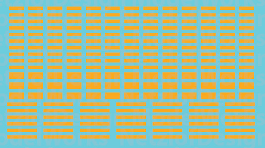 N Scale - FRA Blocks, Non-Reflective Waterslide Decals Yellow