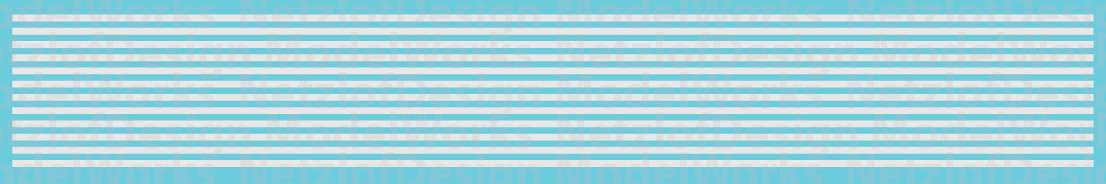 HO Scale - Sill Striping, Non-Reflective Waterslide Decals - White