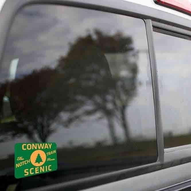 Vinyl Sticker - Conway Scenic (CSRX Green/Orange) Logo