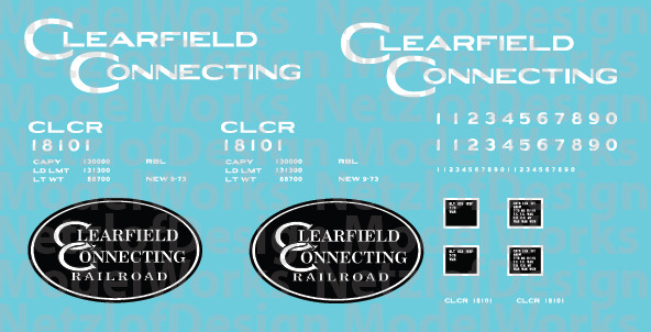 Clearfield Connecting Box Car (CLCR) - White Lettering