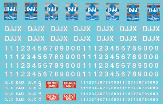 David J. Joseph Hopper Patch Decal Set (DJJX)