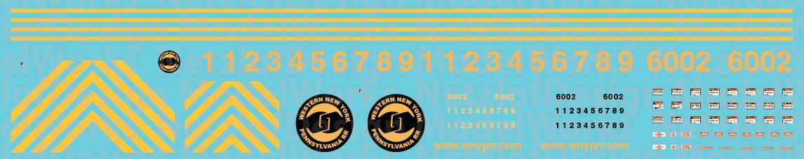 N Scale - Western New York & Pennsylvania AC6000 Decal Set