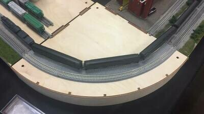 N Scale T-TRAK Turn Corner Modules Rounded Front