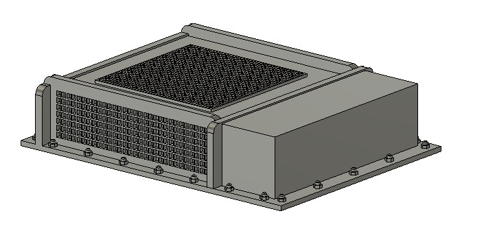 HO Scale Train Parts - Vapor Type AC Unit (Qty 1)