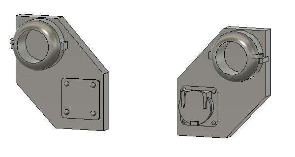 HO Scale Detail Parts - CSX Ditch Light Housings (2 Pair)
