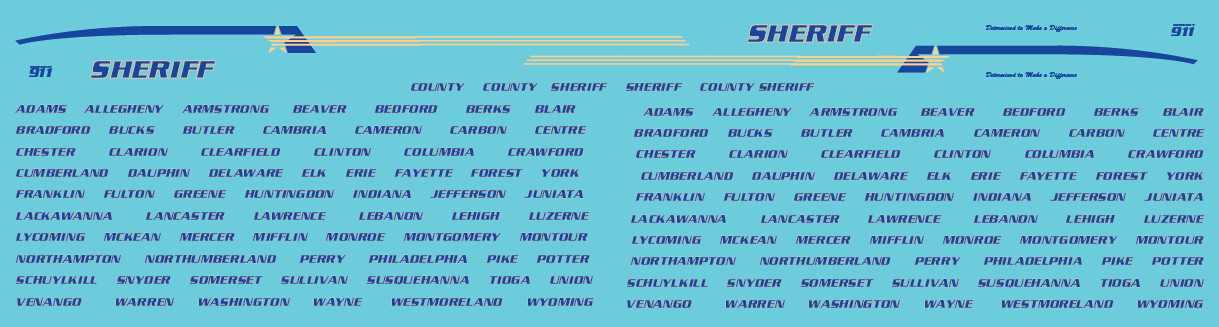 Generic County Sheriff Decals (PA)