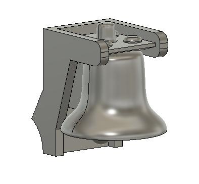 HO Scale Train Parts - GP9 Hood Bell Part