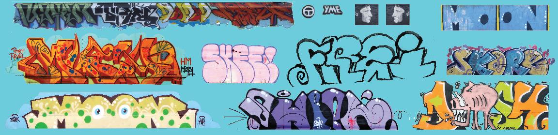 HO Scale - Modern Large Graffiti Set 3