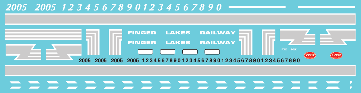 HO Scale - Finger Lakes Railway GP38 - Alternate Lettering Style (2019+) Decal Set