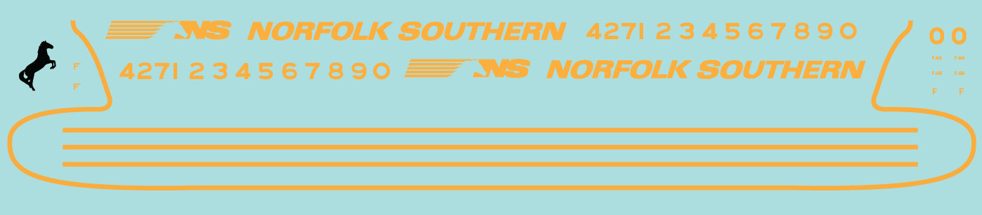 HO Scale - Norfolk Southern (NS) OCS F Unit Decals