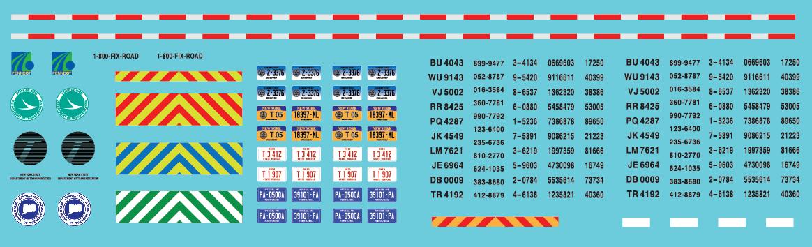 N Scale - Northeast Dept of Transportation (DOT) Vehicle Set