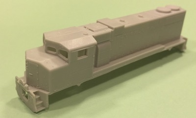 N Scale Trains, GP38-2 W Locomotive Shell, by CMR Products