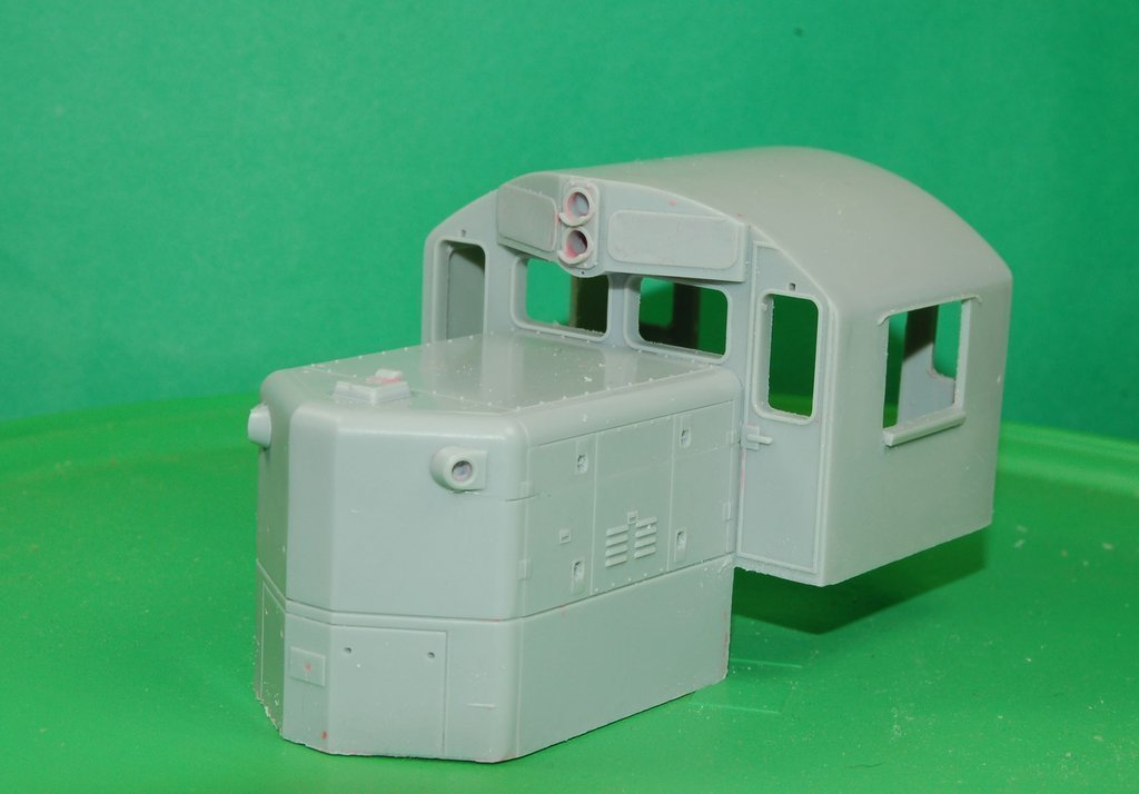 O Scale GP-9 Chop Nose Cab Conversion, Round Roof Version
