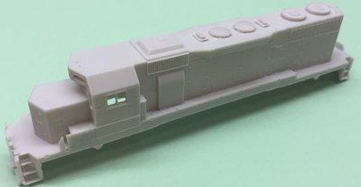 N Scale - SD38 w/ Dynamic Brakes Locomotive Shell