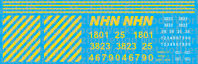 HO Scale - New Hampshire Northcoast Locomotive Decals (2016+)