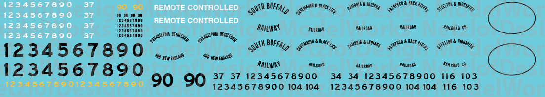 N Scale - Bethlehem Steel Locomotive Decals