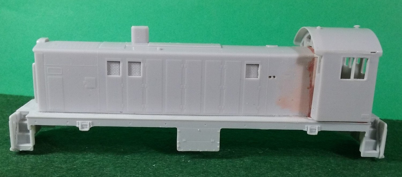 HO Scale Alco S-6 Locomotive Shell