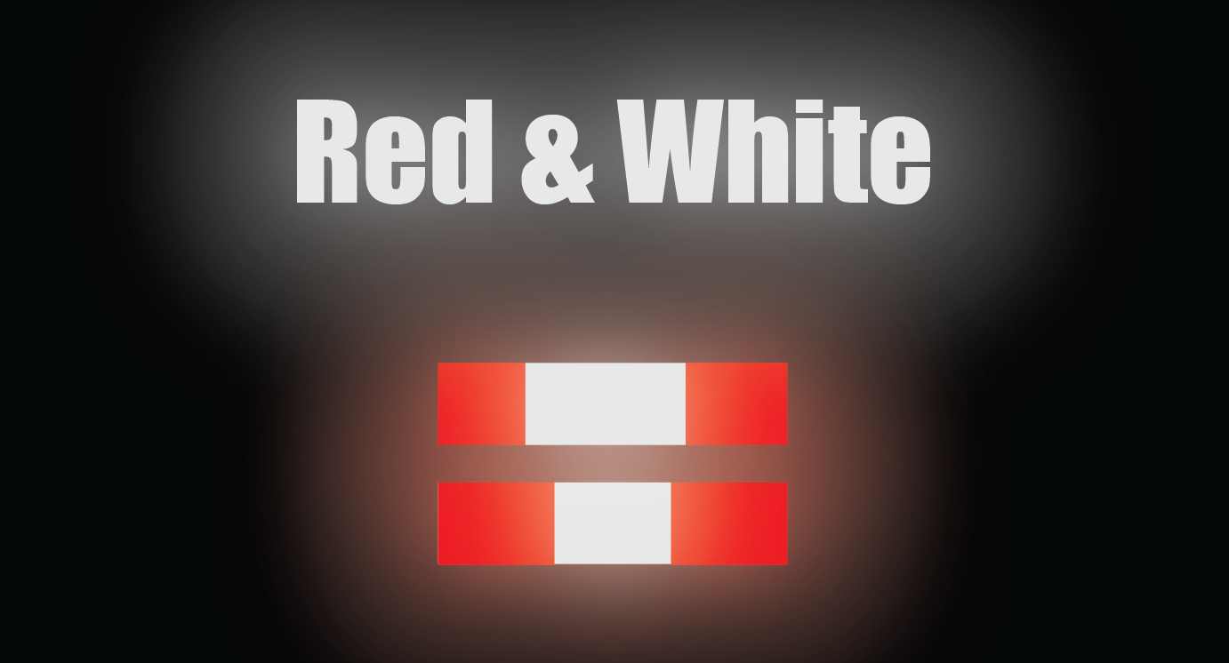 """HO Scale Reflective Striping - 4"""" Red/White Wide Reflective"""