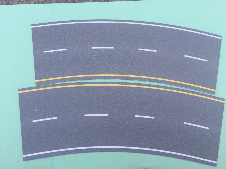 Easy Streets HO - Medium Asphalt-Broad Curve Interstate
