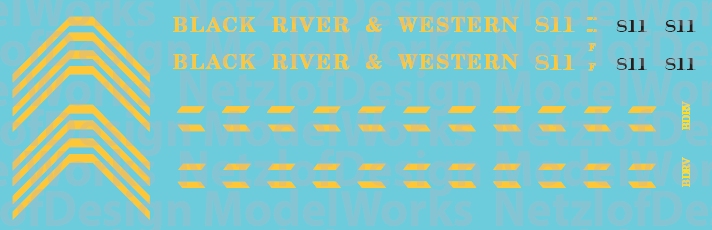 HO Scale - Black River Western GP9 #811 Decal Set