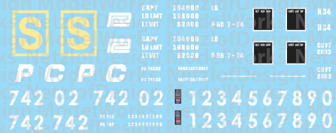 HO Scale - Penn Central 2 Bay PS2 Covered Hopper Decals (PC)
