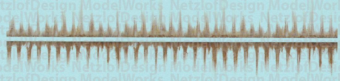 N Scale - Heavy Streak Rust Weathering Set