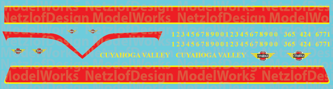 N Scale - Cuyahoga Valley Scenic Locomotive Decals