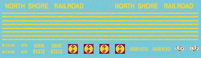 N Scale - North Shore Railroad (NSHR) Caboose Decals