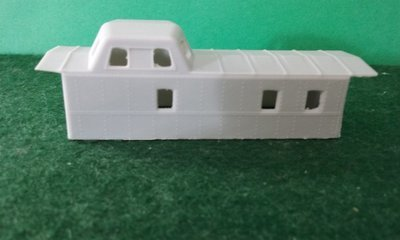 N Scale Wabash C-18 Caboose