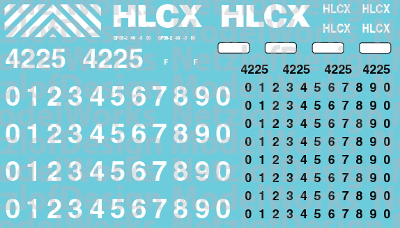 N Scale - HLCX Lease Locomotive Decal Set
