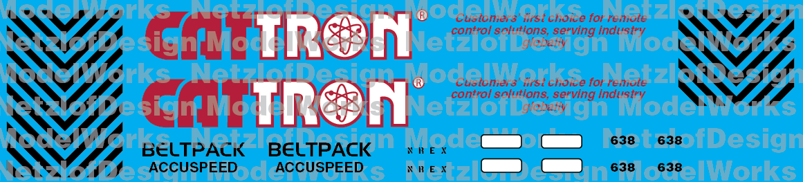 NREX Cattron Demo Unit #638 Decal Set