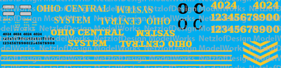 Ohio Central Maroon & Gray Locomotives