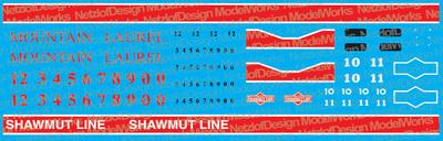 Pittsburg & Shawmut / Mountain Laurel Geeps Decal Set