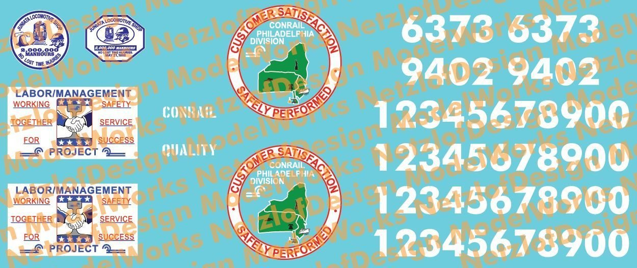 Conrail Paint Out Decal Set 2