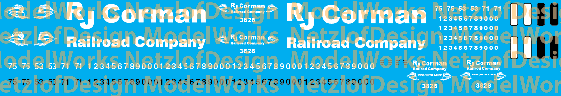 RJ Corman Locomotive Decals New Logo