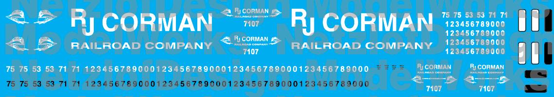 RJ Corman Locomotive Decals Older Logo