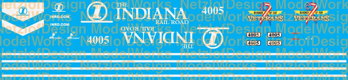 Indiana Railroad (INRD) SD40-2 #4005 Veterans Scheme