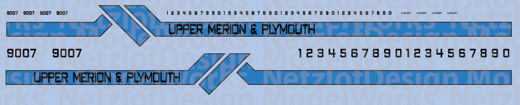 Upper Merion & Plymouth Locomotive Decals (Old Paint)