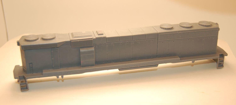 SD45-2 B Unit Hammer Head Engine Shell, HO Scale Trains, by Puttman Locomotive Works