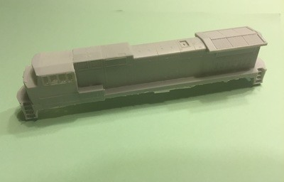 N Scale Trains, Fictional Prototype B40-8.5W Rebuild Locomotive Shell, by CMR Products