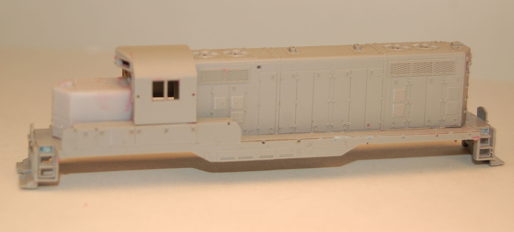 N Scale Trains, GP7 Chop Nose w/o DB Locomotive Shell, by CMR Products