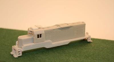 N Scale Trains, GP7 U Topeka Cab w/ DB Locomotive Shell, by CMR Products